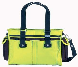 Little Company Spice Shoulder bag in Chocolate Brown and Sunny Lime