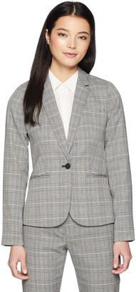 Calvin Klein Women's Petite One Button Jacket