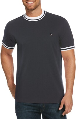 Original Penguin Mock Neck Pique T-Shirt