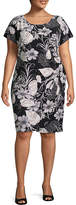 Robbie Bee Short Sleeve Floral Sheath Dress - Plus
