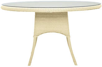 Janus et Cie Nimes Round Dining Table - Ivory frame, ivory; glass, clear