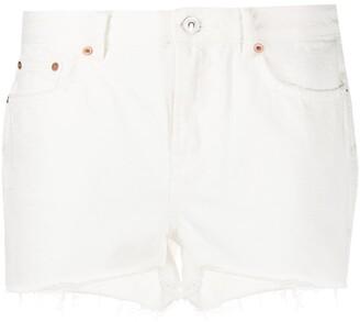 AllSaints Serene frayed denim shorts