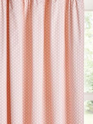 little home at John Lewis Polka Dot Print Pencil Pleat Children's Curtains, Pink