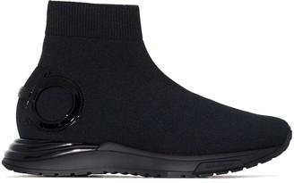 Salvatore Ferragamo Sock-Style Slip-On Sneakers
