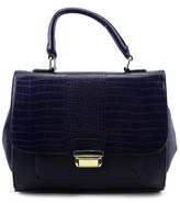 Aldo Azalea Women Leather Blue Satchel.