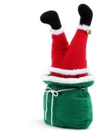 """Mr. Christmas 10"""" Mini Animated Christmas Kickers in Bag- Santa"""