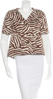 Kate Spade Zebra Short Sleeve Jacket