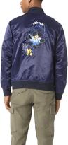Club Monaco Floral Bomber Jacket