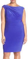 Adrianna Papell Shutter Pleat Sheath Dress (Plus Size)