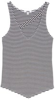 LnA Women's Stripe Asymmetrical Tank