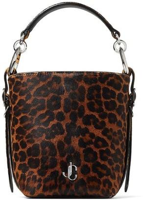 Jimmy Choo small leopard-print Varenne bucket bag