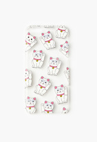 Missguided White Googly Eye Lucky Cat iPhone 6 Case