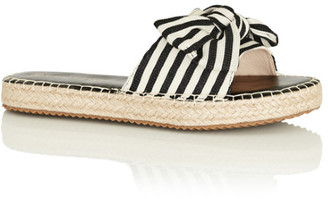 City Chic Meline Slide - ivory stripe