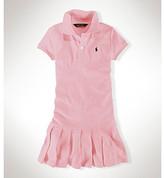Ralph Lauren Girls' 2T-6X Short Sleeve Mesh Dress