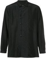 Yohji Yamamoto loop-fastened shirt - men - Cotton/Linen/Flax/Cupro - 2