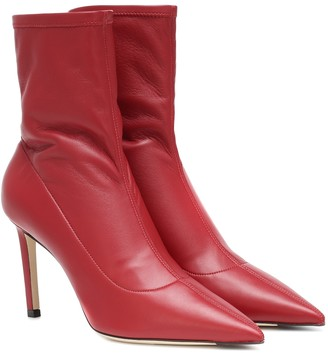 Jimmy Choo Brin 85 leather ankle boots