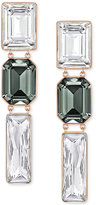 Swarovski Rose Gold-Tone Black and Clear Crystal PVD Drop Earrings