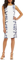 Preston & York Naomi Floral Side Sleeveless Sheath Dress