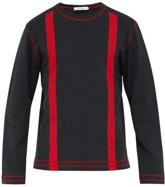 Craig Green Stripe Print Ribbed Cotton Sweatshirt - Mens - Black
