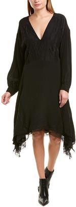 IRO Talent Silk-Blend Midi Dress