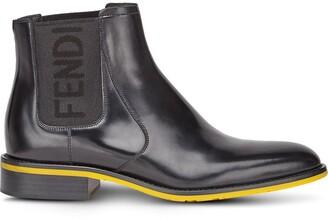 Fendi logo panel Chelsea boots