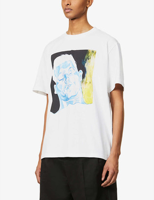 J.W.Anderson Face graphic-print oversized cotton-jersey T-shirt