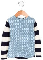 Stella McCartney Girls' Silk-Paneled Wool Top