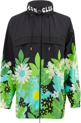 0 Moncler Genius Richard Quinn - Pat Floral-print Nylon Jacket - Black Multi