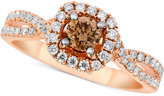 LeVian Le Vian® Bridal Diamond Engagment Ring (1-1/8 ct. t.w.) in 14k Rose Gold