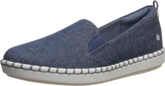 Clarks Women's Step Glow Slip Loafer Flat Denim Textile 060 W US