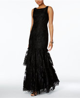 Adrianna Papell Lace Mermaid Gown