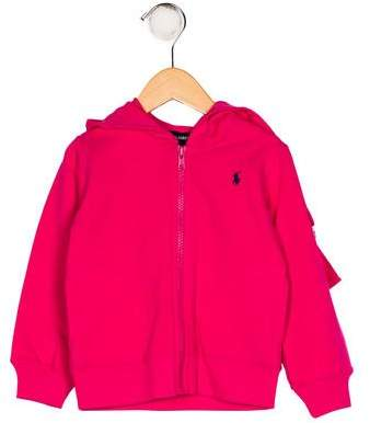 Ralph Lauren Girls' Hooded Zip-Up Sweater w/ Tags
