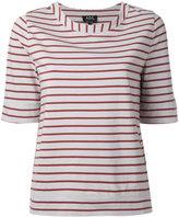 A.P.C. striped T-shirt - women - Organic Cotton - M