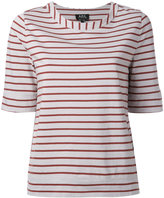 A.P.C. striped T-shirt - women - Organic Cotton - XS