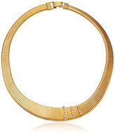 """Yochi Crystal-Accented Collar Snake Chain Necklace, 18"""""""