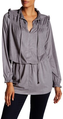 Vertigo Ruffled Smocked Tunic
