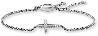David Yurman Petite Pave Diamond Cross Bracelet