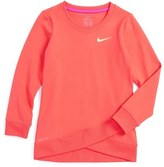 Nike Dri-FIT Crossover Sweatshirt (Toddler Girls & Little Girls)