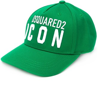 DSQUARED2 TEEN embroidered logo baseball cap