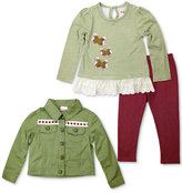 Nannette 3-Pc. Jacket, Top and Leggings Set, Little Girls (4-6X)