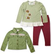 Nannette 3-Pc. Jacket, Top & Leggings Set, Toddler & Little Girls (2T-6X)