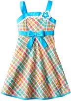 Youngland Girls 4-6x Plaid Seersucker Sundress