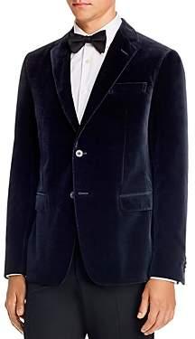 Ermenegildo Zegna Drop 8 Micro-Texture Printed Velvet Slim Fit Jacket