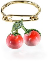 Alexis Bittar Lucite Crystal Encrusted Cherry Ring