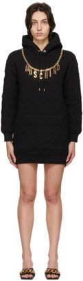 Moschino Black Smiley Edition Charm Hoodie Dress