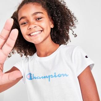 Champion Girls' Script Logo T-Shirt