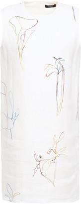 Theory Printed Linen Mini Dress