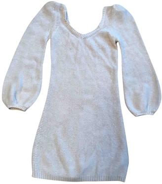 Anna Molinari Ecru Wool Dress for Women