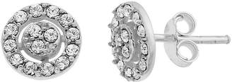 clear ITSY BITSY Itsy Bitsy Sterling Silver 7.8mm Round Stud Earrings