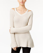 Style&Co. Style & Co. Cutout High-Low Sweater, Only at Macy's